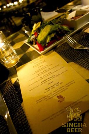 Thai Dinner Series Menu for Night 1
