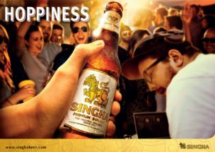 SINGHA Attribute Hoppiness Poster